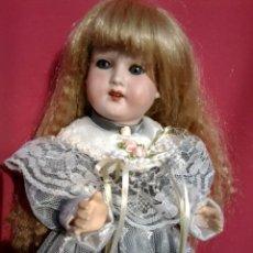 Muñecas Porcelana: ANTIGUA MUÑECA CABEZA DE PORCELANA MARCA TREBOR GERMANY. Lote 59785184