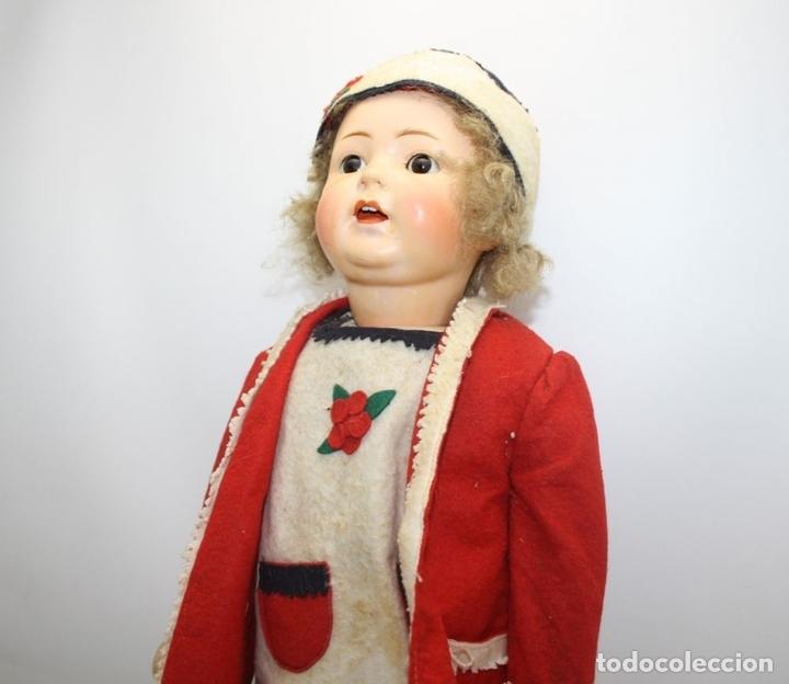 Muñecas Porcelana: MUÑECA ANDADORA. SIMON HALBIG. CUERPO DE MADERA. FUNCIONA. AÑOS 20/30 - Foto 2 - 43329627