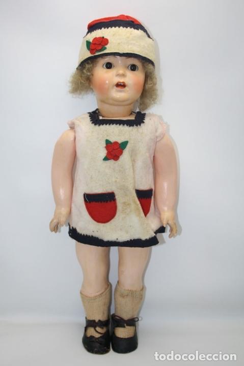 Muñecas Porcelana: MUÑECA ANDADORA. SIMON HALBIG. CUERPO DE MADERA. FUNCIONA. AÑOS 20/30 - Foto 4 - 43329627