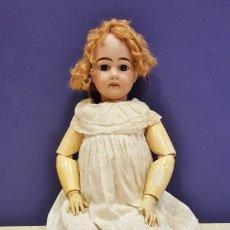 Muñecas Porcelana: MUÑECA ARMAND MARSEILLE 11 DEP GERMANY. CABEZA DE BISCUIT. BOCA ABIERTA. CABELLO Y VESTIDO ORIGINAL.. Lote 62568576
