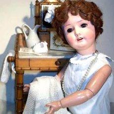 Muñecas Porcelana: ANTIGUA MUÑECA ALEMANA CABEZA DE PORCELANA HEUBACH KOPPELSDORF / MODELO 250-6, 65 CM, MUY BONITA. Lote 64164563