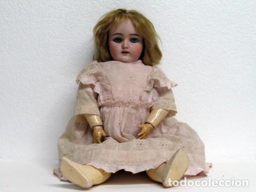 MUÑECA DE PORCELANA MARCA HANDWERK (Juguetes - Muñeca Extranjera Antigua - Porcelana Alemana)