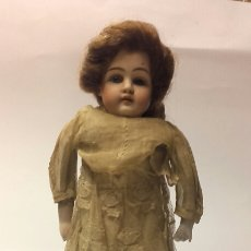 Muñecas Porcelana: ESPECTACULAR MUÑECA DE PORCELANA CON CUERPO DE CABRETILLA MOLDE KESTNER. Lote 68976973