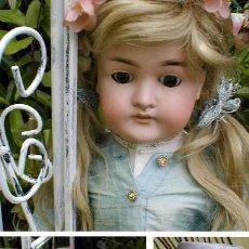 Muñecas Porcelana: ANTIGUA MUÑECA DE PORCELANA ALEMANA KARL HARTMANN ANDADORA,MODELO MUY RARO,60 CM Y CON ROPA ORIGINAL. Lote 71728079