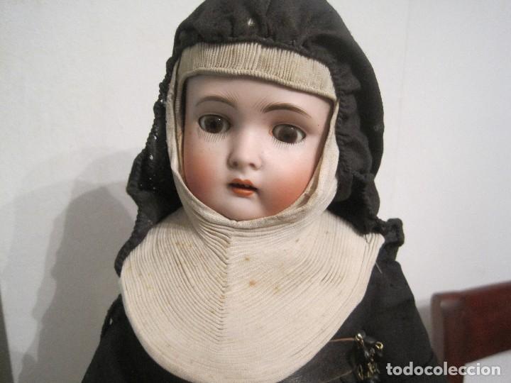 Muñecas Porcelana: MONJITA CABEZA EN BISCUIT, MADE IN GERMANY, KESTNER 136/3 40 CM. APROX. - Foto 3 - 71838939
