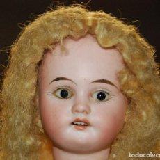 Muñecas Porcelana: PRECIOSO MUÑECO CON CABEZA DE PORCELANA Y CUERPO DE MADERA. Lote 75532279