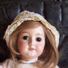Muñecas Porcelana: MUÑECA DE PORCELANA ARMAND MARSEILLE 1894. ALTURA 57 CM. OJOS FIJOS DE CRISTAL, PELO NATURAL.. Lote 75872619