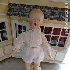 Muñecas Porcelana: MUÑECO DE CARACTER YAWNER - BOSTEZO - GEBRUDER HEUBACH - ALEMANIA - REPRODUCCION MUÑECA ANTIGUA. Lote 78024753