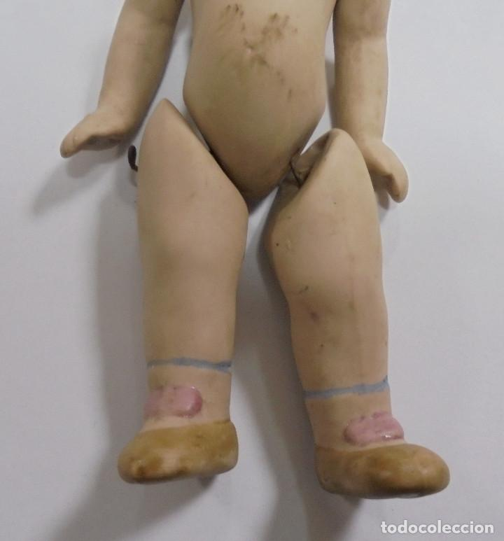 Muñecas Porcelana: ANTIGUA MUÑECA DE CERAMICA ARTICULADA. 16CM. LA DE LAS FOTOS - Foto 2 - 80433309