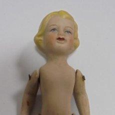 Muñecas Porcelana: ANTIGUA MUÑECA DE CERAMICA ARTICULADA. 16CM. LA DE LAS FOTOS. Lote 80438069