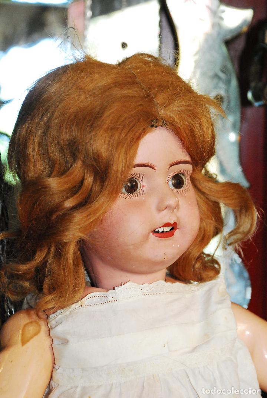 Muñecas Porcelana: PRECIOSA MUÑECA MUY ANTIGUA DE PORCELANA Y CARTÓN PIEDRA - Foto 3 - 85980292