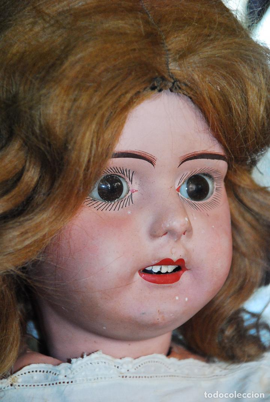 Muñecas Porcelana: PRECIOSA MUÑECA MUY ANTIGUA DE PORCELANA Y CARTÓN PIEDRA - Foto 4 - 85980292