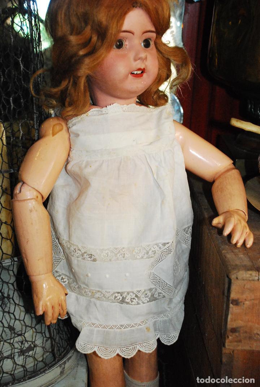 Muñecas Porcelana: PRECIOSA MUÑECA MUY ANTIGUA DE PORCELANA Y CARTÓN PIEDRA - Foto 5 - 85980292