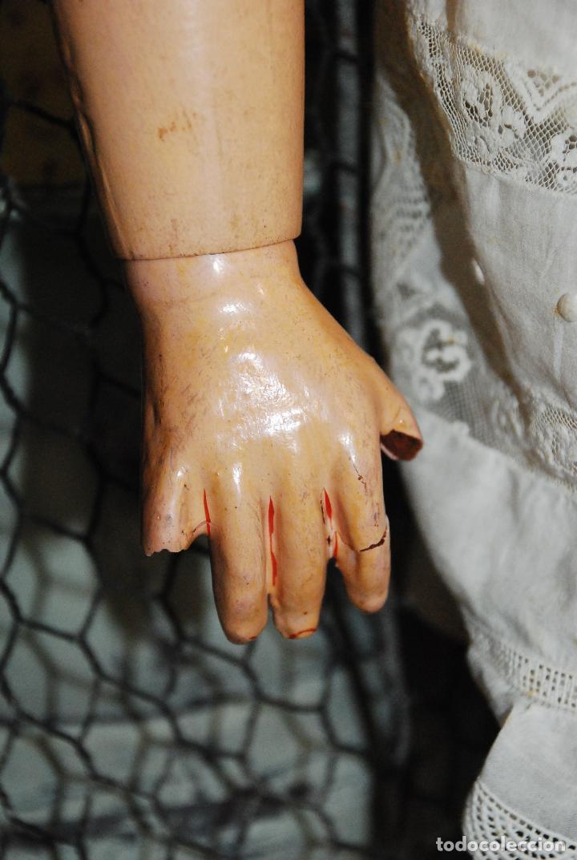 Muñecas Porcelana: PRECIOSA MUÑECA MUY ANTIGUA DE PORCELANA Y CARTÓN PIEDRA - Foto 6 - 85980292