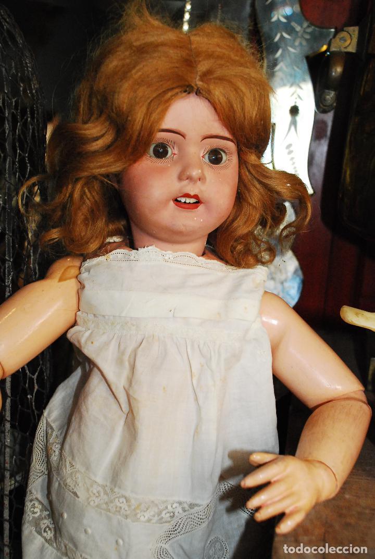 Muñecas Porcelana: PRECIOSA MUÑECA MUY ANTIGUA DE PORCELANA Y CARTÓN PIEDRA - Foto 8 - 85980292