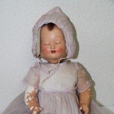 Muñecas Porcelana: BEBÉ CON 4 CARAS. PORCELANA Y COMPOSICIÓN. FUNCIONA. POSIBLEMENTE ALEMÁN. PRINC. S. XX. Lote 86354728