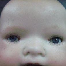 Muñecas Porcelana: ANTIGUO MUÑECO MUÑECA BEBE LLORÓN ALEMANIA MARCAS BISCUIT. Lote 87129300