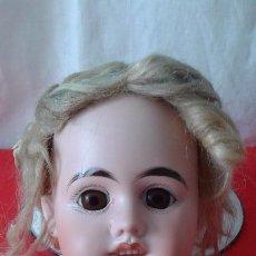 Muñecas Porcelana: ANTIGUA CABEZA DE MUÑECA PORCELANA. Lote 87442968