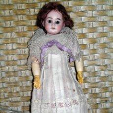 """Muñecas Porcelana: MUÑECA DE PORCELANA ARMAND MARSEILLE MARCADA """"AM 1894"""" CON CAJA ORIGINAL. Lote 87493680"""