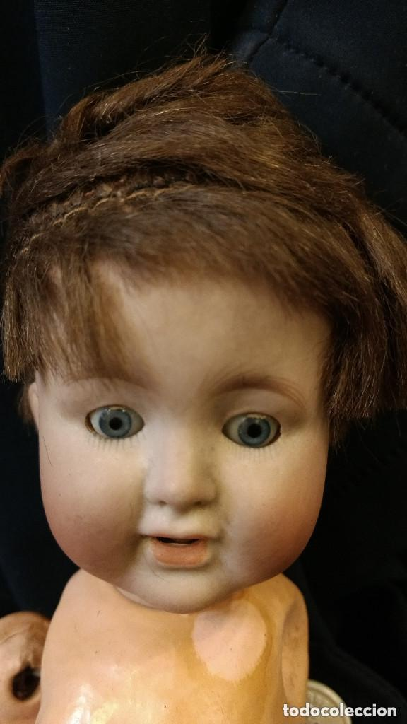 precioso bebe de porcelana, ojo de cristal durm - Comprar Muñecas ...