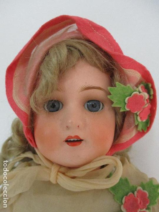 Muñecas Porcelana: Antigua Muñeca - Andadora - Sello Simon & Halbing, Talla 1748 - Marca Lehman - Perfecta !!! - Foto 3 - 93101840