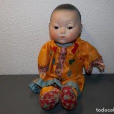 Muñecas Porcelana: BEBE ORIENTAL ARMAND MARSEILLE EN PORCELANA Y MANOS COMPOSICION. Lote 98648339