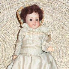 Muñecas Porcelana: MUÑECA DE FINO BISGUIT ALEMANA MUY ANTIGUA MARCADA EN NUCA TODA ORIGINAL. Lote 102155411