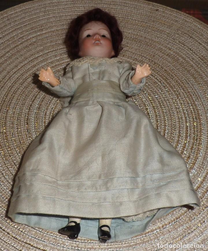 Muñecas Porcelana: MUÑECA DE FINO BISGUIT ALEMANA MUY ANTIGUA MARCADA EN NUCA TODA ORIGINAL - Foto 5 - 102155411