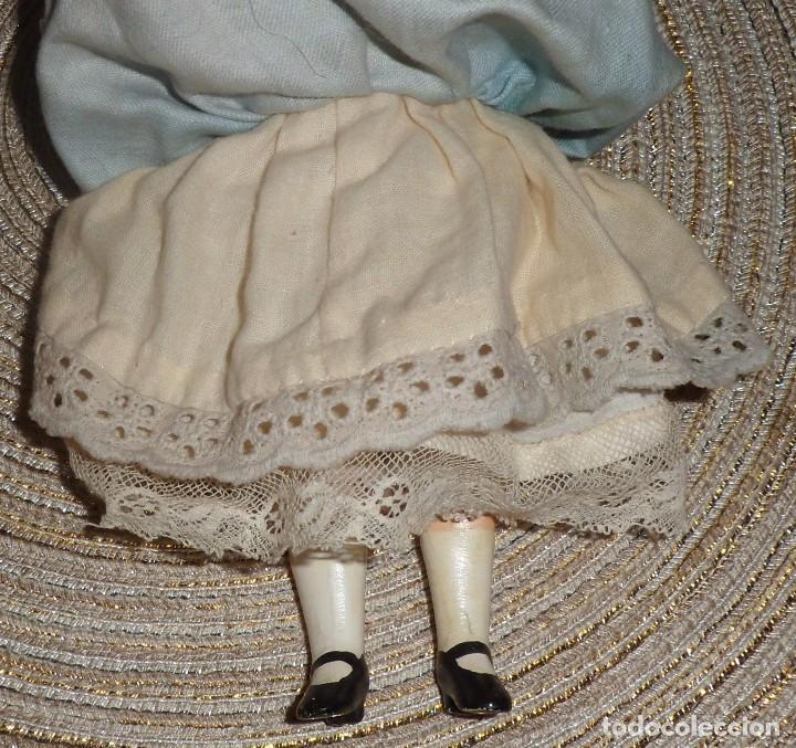 Muñecas Porcelana: MUÑECA DE FINO BISGUIT ALEMANA MUY ANTIGUA MARCADA EN NUCA TODA ORIGINAL - Foto 8 - 102155411