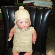 Muñecas Porcelana: MUÑECO CARA PORCELANA CUERPO DE TRAPO AM MADE IN GERMANY. Lote 102687699