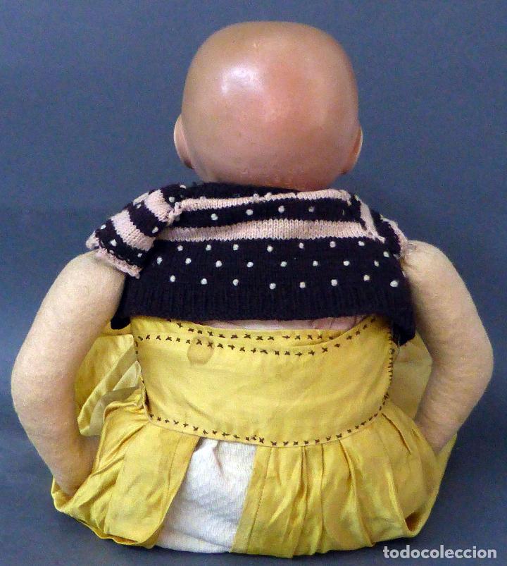 Muñecas Porcelana: Bebé alemán cabeza porcelana cuerpo trapo marca nuca Germany M 11 nº 3 CC 50 cm alto ropa original - Foto 3 - 103283671