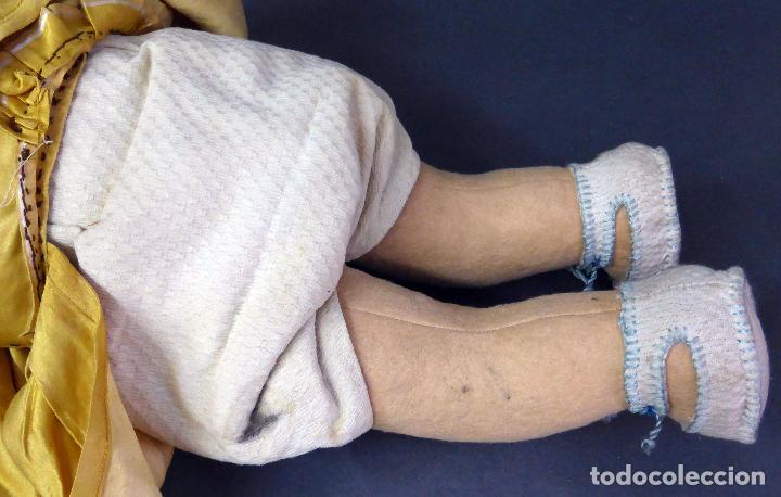Muñecas Porcelana: Bebé alemán cabeza porcelana cuerpo trapo marca nuca Germany M 11 nº 3 CC 50 cm alto ropa original - Foto 6 - 103283671
