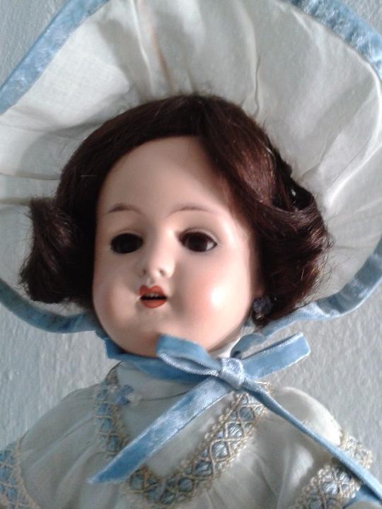 Muñecas Porcelana: MUÑECA DE PORCELANA ANTIGUA , ANCLA ,FIRMADO EN LA NUCA ,COMPLETAMENTE VESTIDA ,TODO ORIGINAL - Foto 2 - 103642179