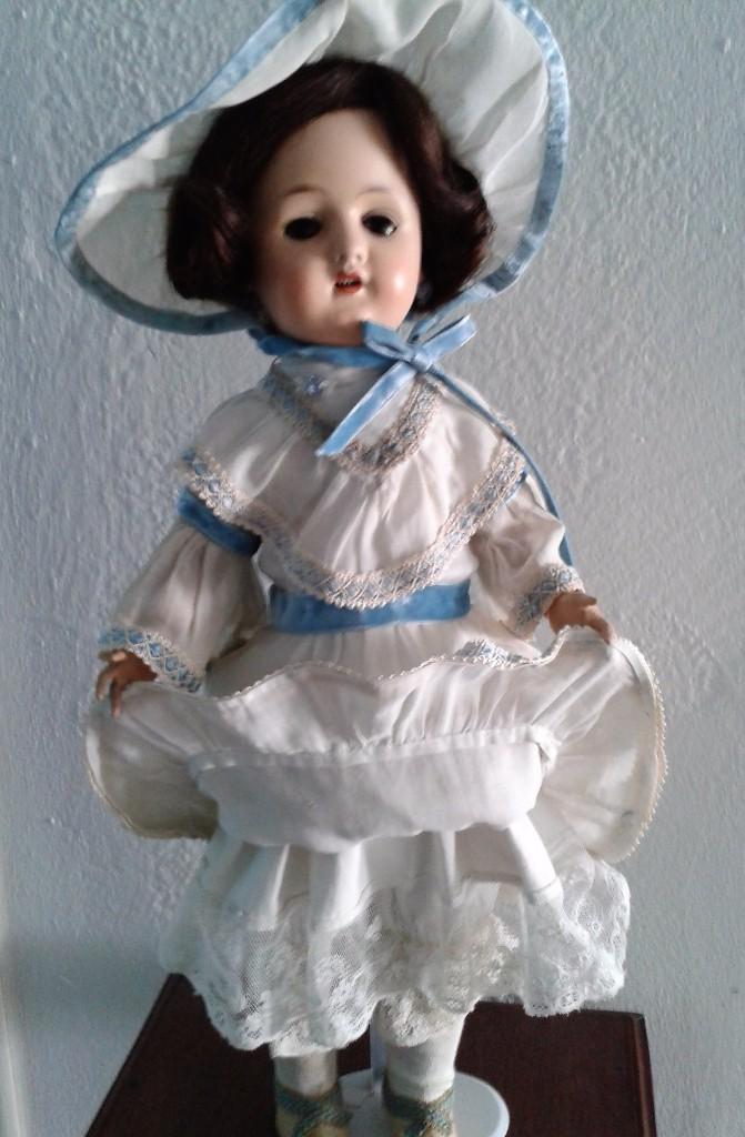 Muñecas Porcelana: MUÑECA DE PORCELANA ANTIGUA , ANCLA ,FIRMADO EN LA NUCA ,COMPLETAMENTE VESTIDA ,TODO ORIGINAL - Foto 3 - 103642179