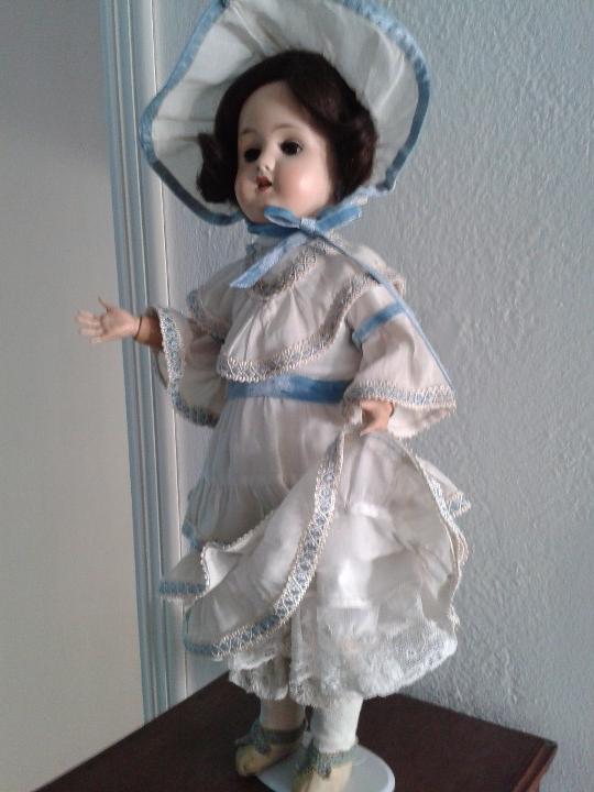 Muñecas Porcelana: MUÑECA DE PORCELANA ANTIGUA , ANCLA ,FIRMADO EN LA NUCA ,COMPLETAMENTE VESTIDA ,TODO ORIGINAL - Foto 5 - 103642179