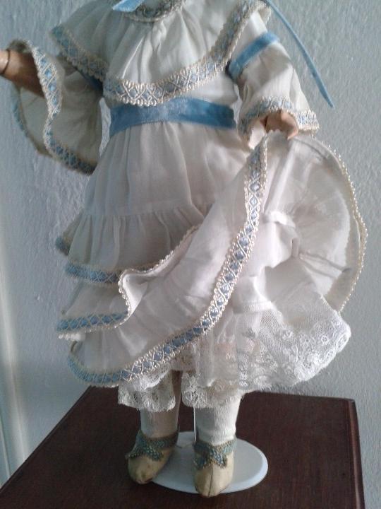 Muñecas Porcelana: MUÑECA DE PORCELANA ANTIGUA , ANCLA ,FIRMADO EN LA NUCA ,COMPLETAMENTE VESTIDA ,TODO ORIGINAL - Foto 6 - 103642179