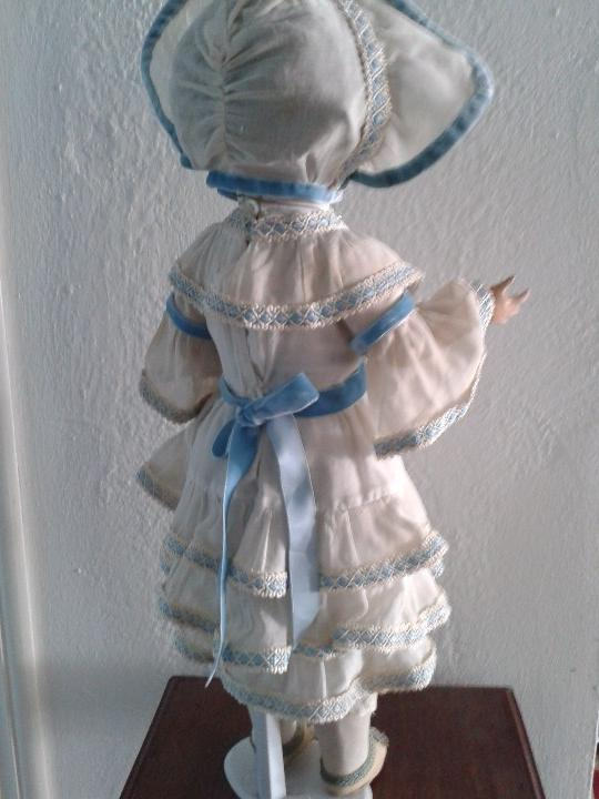 Muñecas Porcelana: MUÑECA DE PORCELANA ANTIGUA , ANCLA ,FIRMADO EN LA NUCA ,COMPLETAMENTE VESTIDA ,TODO ORIGINAL - Foto 7 - 103642179