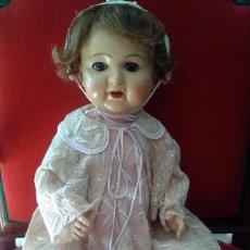 Muñecas Porcelana: ENORME MUÑECO BEBE DE PORCELANA ALEMÁN SIGLO XIX ,MARCADO ,ROPAS ORIGINAL. Lote 105138871