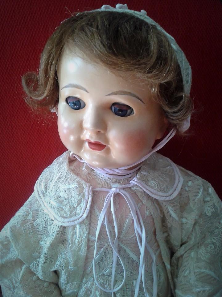 Muñecas Porcelana: ENORME MUÑECO BEBE DE PORCELANA ALEMÁN SIGLO XIX ,MARCADO ,ROPAS ORIGINAL - Foto 2 - 105138871