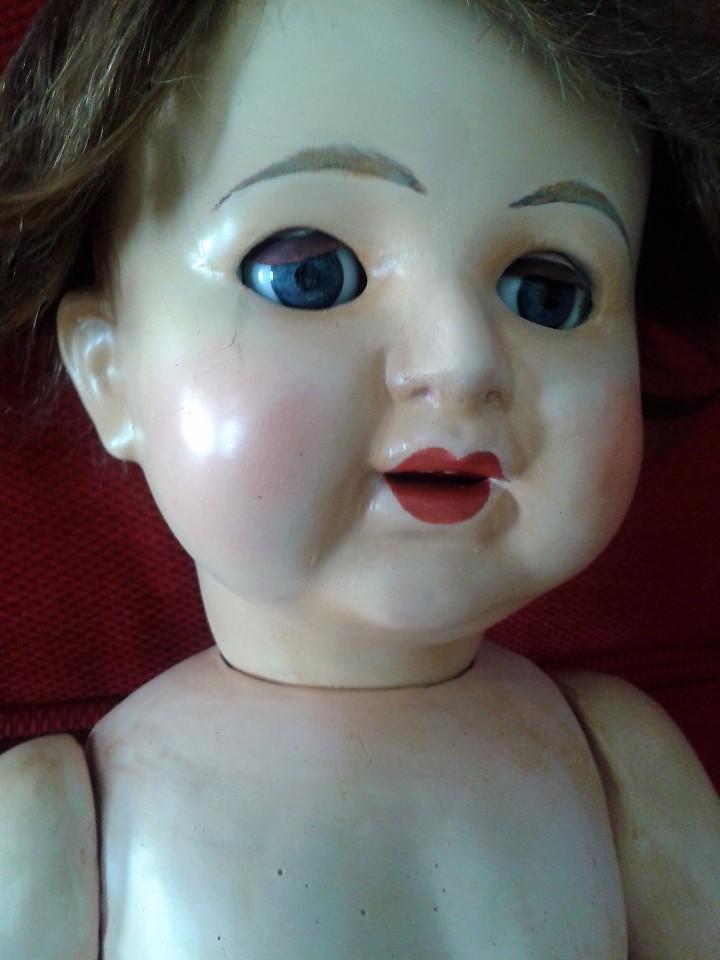 Muñecas Porcelana: ENORME MUÑECO BEBE DE PORCELANA ALEMÁN SIGLO XIX ,MARCADO ,ROPAS ORIGINAL - Foto 6 - 105138871