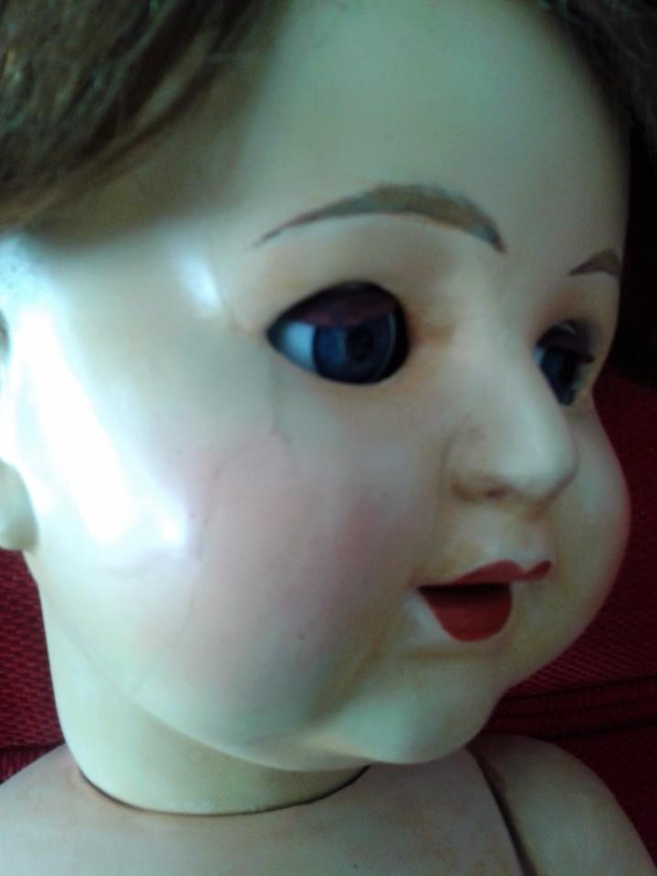 Muñecas Porcelana: ENORME MUÑECO BEBE DE PORCELANA ALEMÁN SIGLO XIX ,MARCADO ,ROPAS ORIGINAL - Foto 7 - 105138871