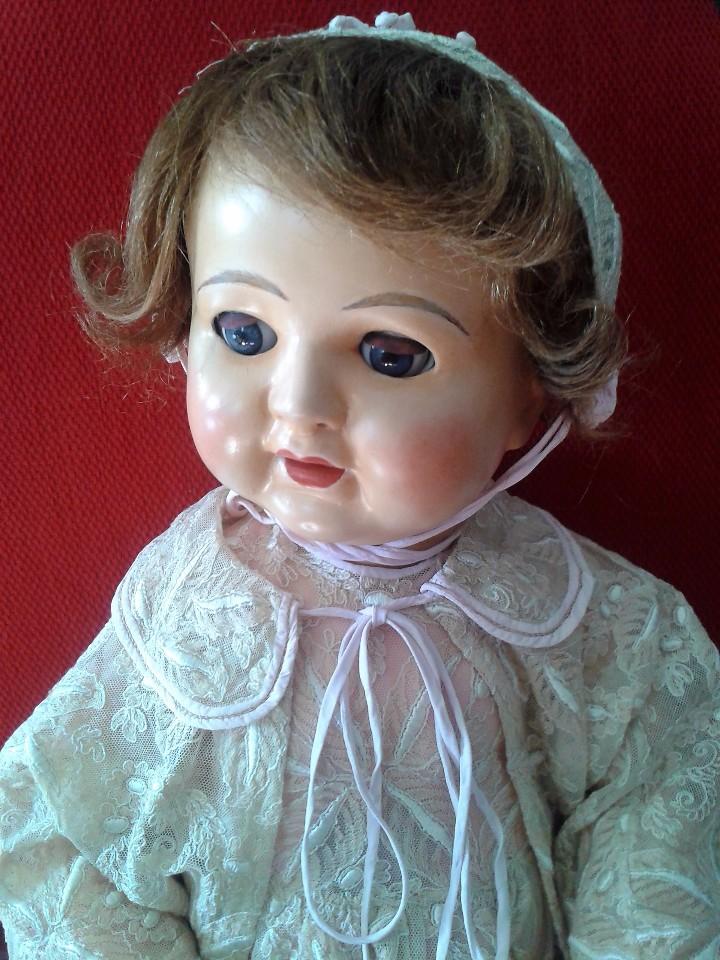 Muñecas Porcelana: ENORME MUÑECO BEBE DE PORCELANA ALEMÁN SIGLO XIX ,MARCADO ,ROPAS ORIGINAL - Foto 9 - 105138871