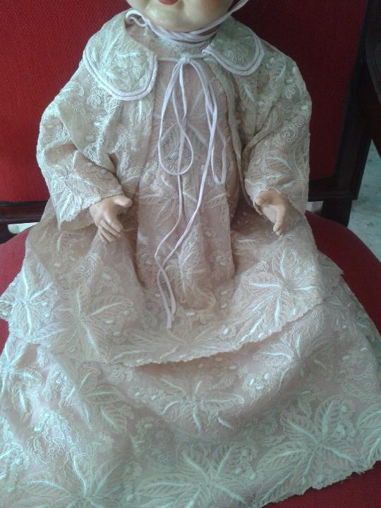 Muñecas Porcelana: ENORME MUÑECO BEBE DE PORCELANA ALEMÁN SIGLO XIX ,MARCADO ,ROPAS ORIGINAL - Foto 13 - 105138871