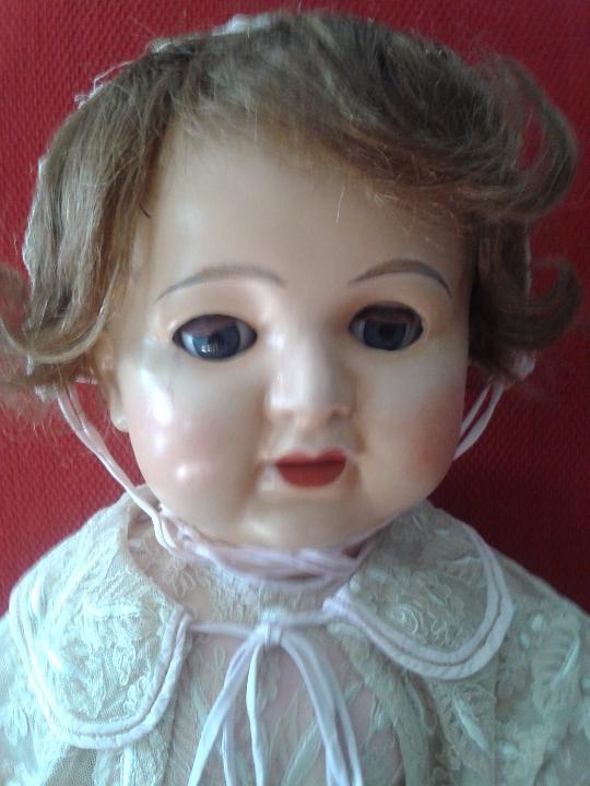 Muñecas Porcelana: ENORME MUÑECO BEBE DE PORCELANA ALEMÁN SIGLO XIX ,MARCADO ,ROPAS ORIGINAL - Foto 14 - 105138871