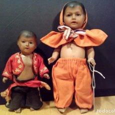 Muñecas Porcelana: PAREJA DE MUÑECOS ÉTNICOS HEUBACH & KOPPERLSDORF , TAMBIÉN INDIVIDUAL. Lote 105558375