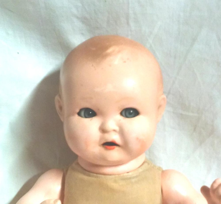 Muñecas Porcelana: Muñeco Bebé, llora, ojos durmientes movimiento lateral. Marca nuca (Germany 303 / 2), 36 cm alt - Foto 2 - 27344698