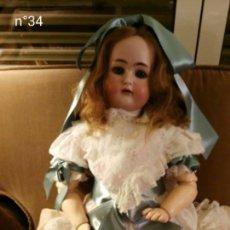 Muñecas Porcelana: GRAN MUÑECA DE PORCELANA ALEMANA KAMMER & REINHARD. Lote 107173827