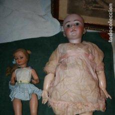 Muñecas Porcelana: DOS MUÑECAS. UNA DE MADERA Y PORCELANA SIMON & HALBIG 1078 MIDE 80 CMS. Lote 107256815