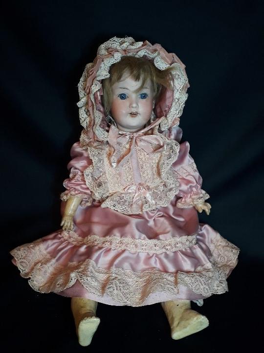 Muñecas Porcelana: MUÑECA. CARA DE BISCUIT. TREBOR. 22 POM. ALEMANIA. 45 CM. - Foto 2 - 110653727