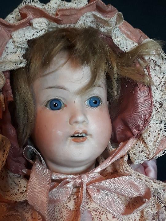 Muñecas Porcelana: MUÑECA. CARA DE BISCUIT. TREBOR. 22 POM. ALEMANIA. 45 CM. - Foto 3 - 110653727